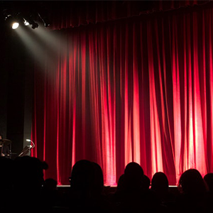 Bühne mit Spotlight